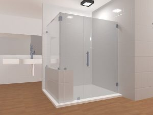 glass frameless shower