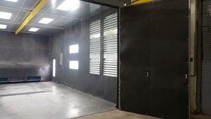 finished sandblasting room
